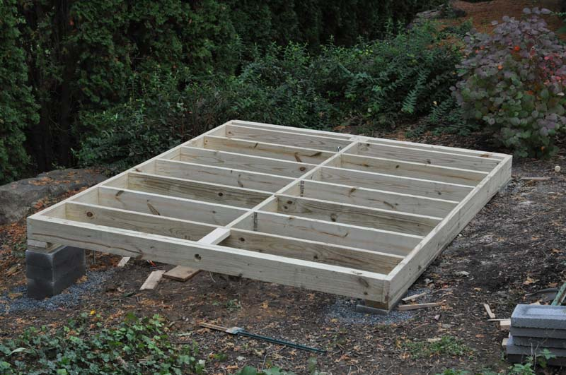 All con building foundation for garden shed for Building foundation plans
