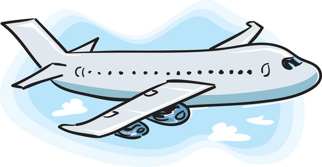 vacation airplane clip art -#main