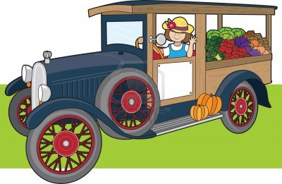 woman-is-driving-a-truck-vegetables