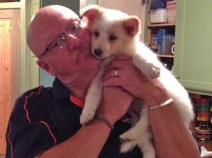 Puppy Nora with new best friend