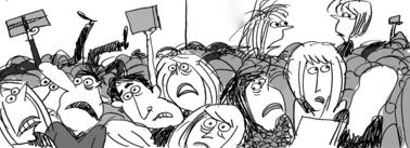 frenzied mob