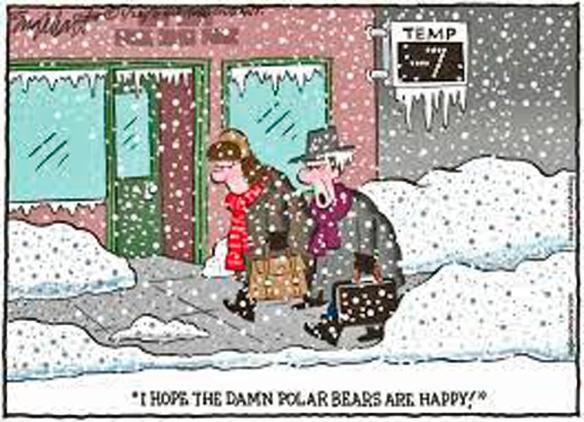 snowstorm, old people