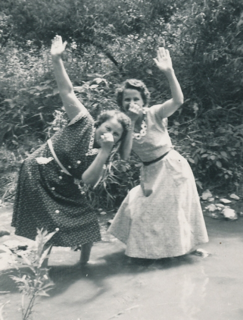 Mom (on left) and her sister Hilda being themselves!