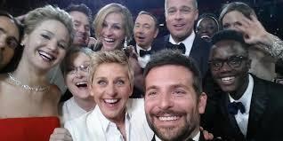 Ellen DeGeneres selfie at Oscars