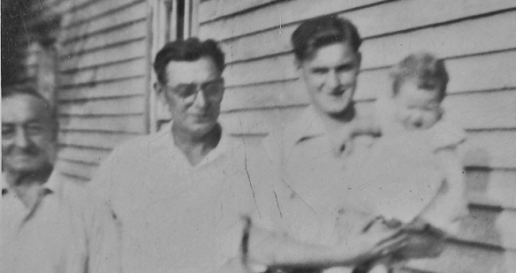4 generations -- my grandfather, my father, my oldest brother with my niece Anita (Sorry for the poor quality)
