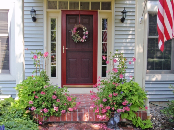 My current front door in the summer