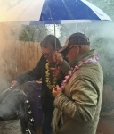 The beloved husband and son-in-law cooking on a very cold Denver day.