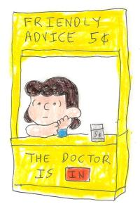 Lucy advice booth