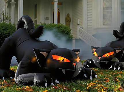 This is my cats' favorite inflatable! Source: fountainterior.com