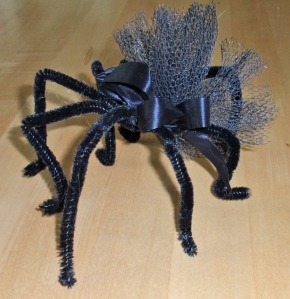 Spider made out of pipe cleaners