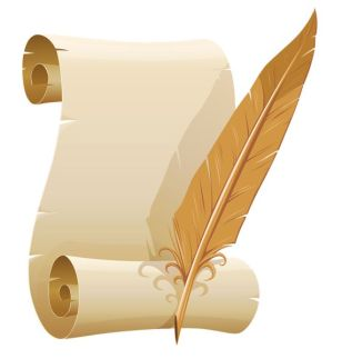 Scroll and quill-pinterest