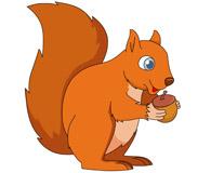 squirrel holding acorn nut clipart